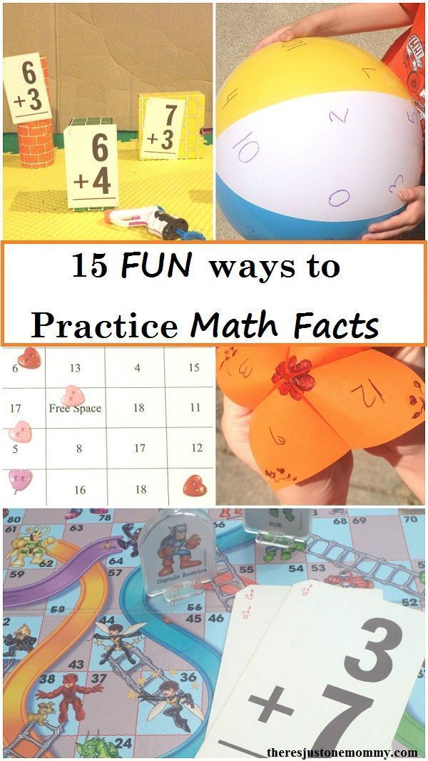 fun ways to practice math facts -- 15 ways to make practicing math ...