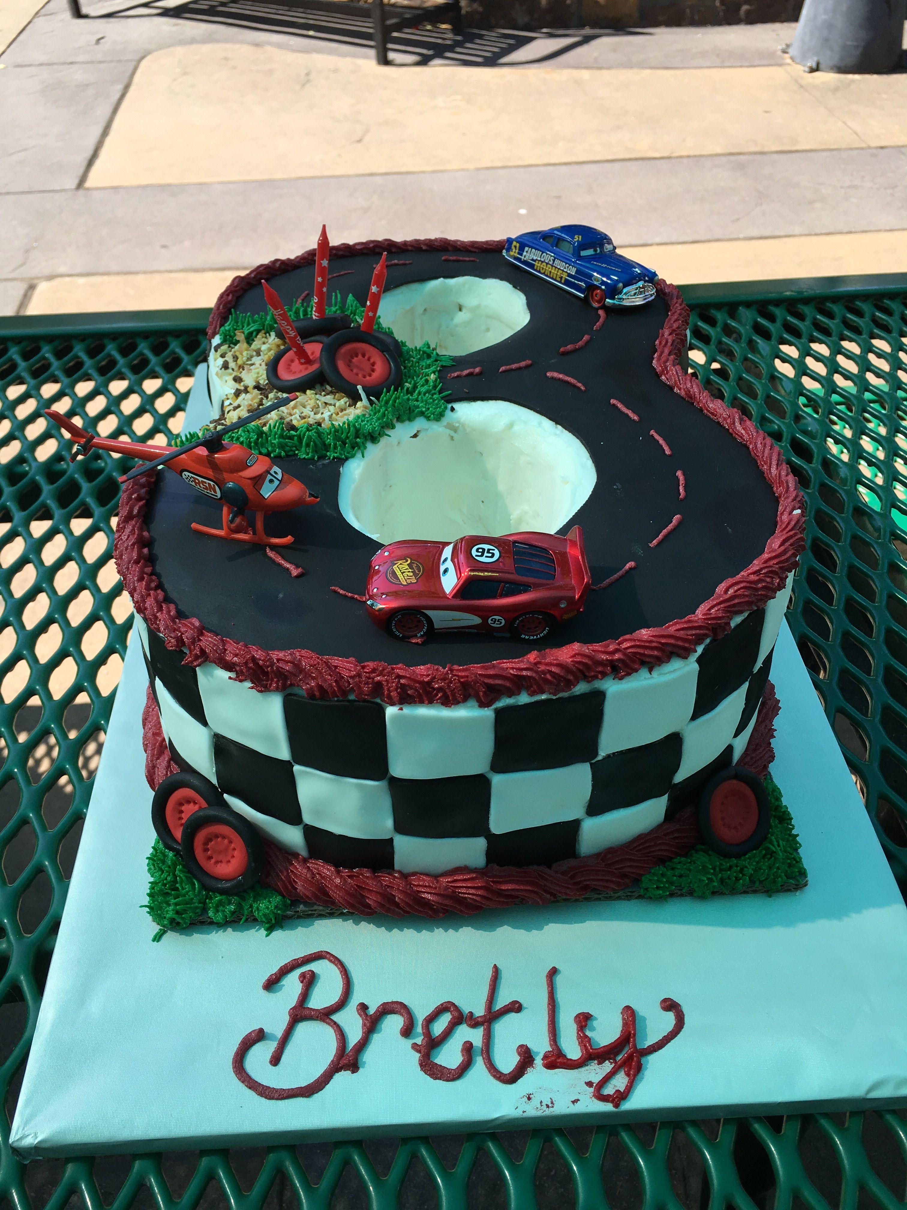 Third Birthday Cars Racetrack Cake
