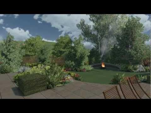 Sloping Garden By Cedar Nursery Landscape Design Abschussiger Garten Landschaftsdesign Landschaftsbau