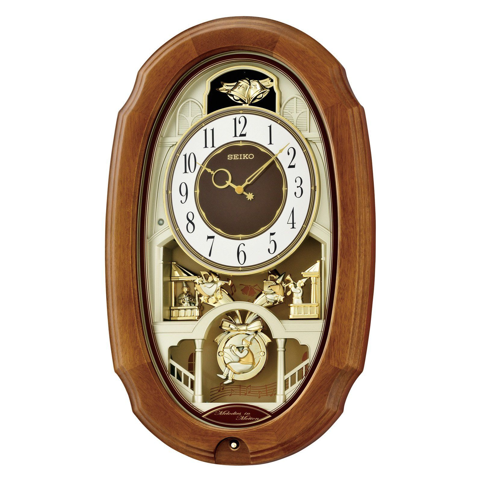 Have To Have It Seiko Town Square Melodies In Motion Wall Clock 11 In Wide 184 99 Hayneedle Clock Wall Clock Large Wall Clock