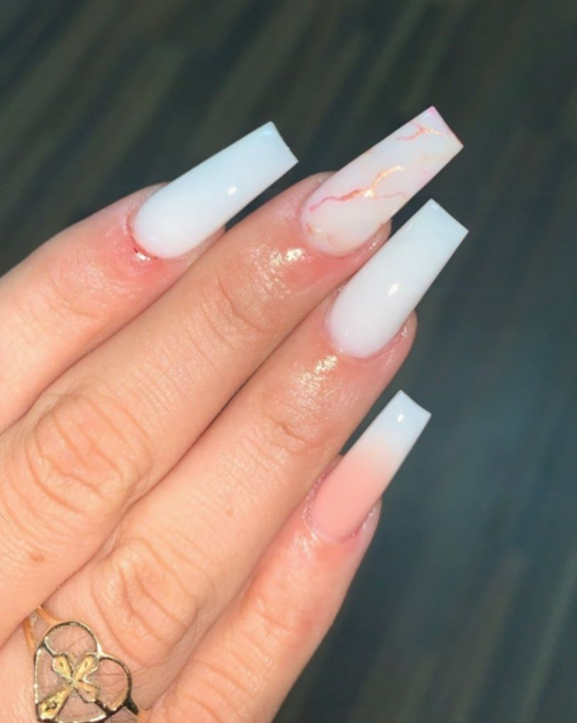 8 Nail Ideas Coffin Instagram Long Square Acrylic Nails Neutral Nails Acrylic Square Acrylic Nails