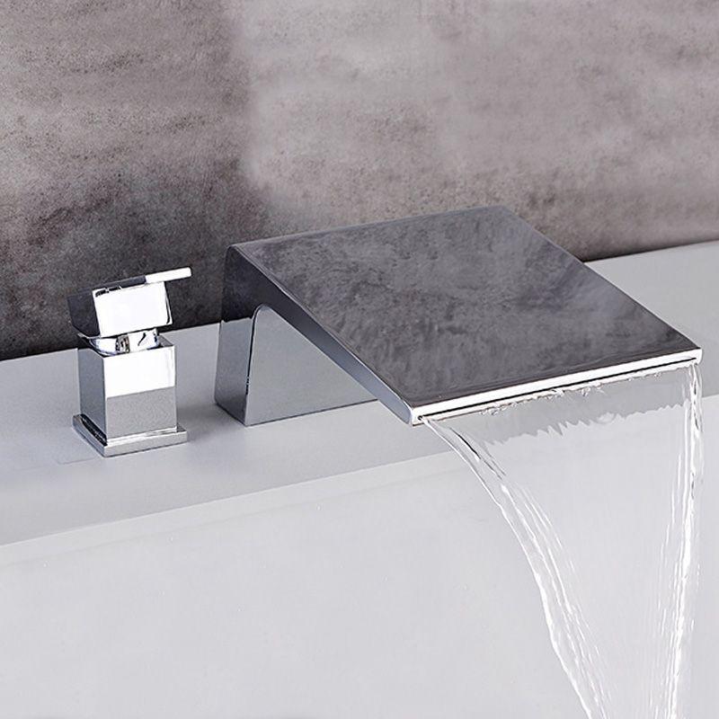 Robinet de baignoire cascade moderne en chrome poli ou noir ...