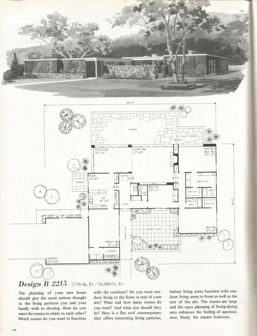 Vintage House Plans Mid Century Homes 1960s Homes Vintage