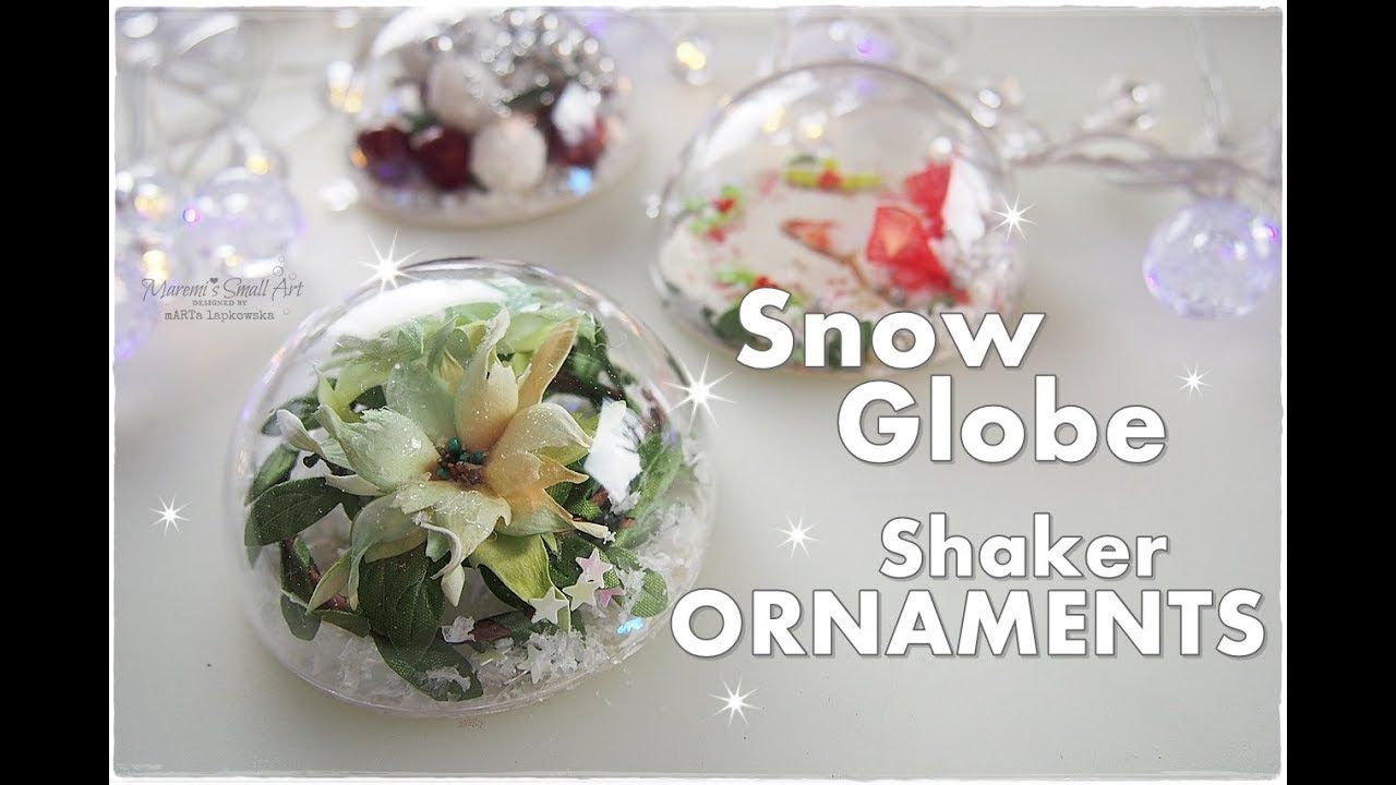 Diy Snow Globe Shaker Ornaments Made From Half Baubles Maremi S