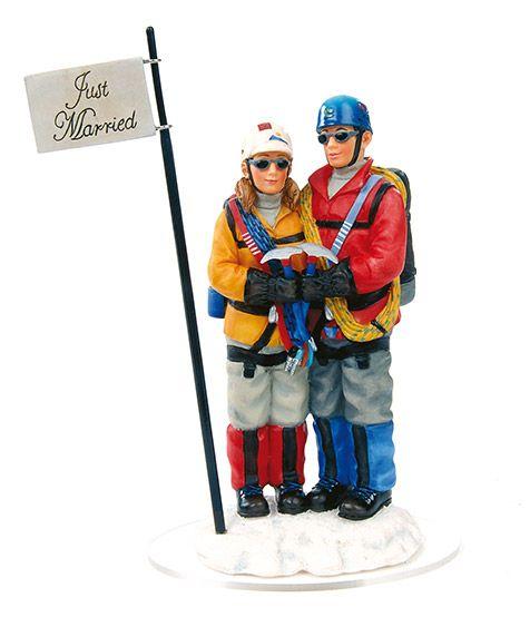 Mountain Climbers Wedding Cake Topper