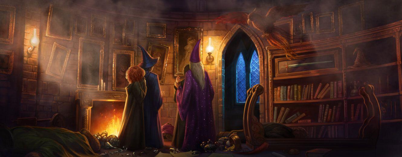 Dumbledore escapes from Professor Umbridge and Cornelius Fudge