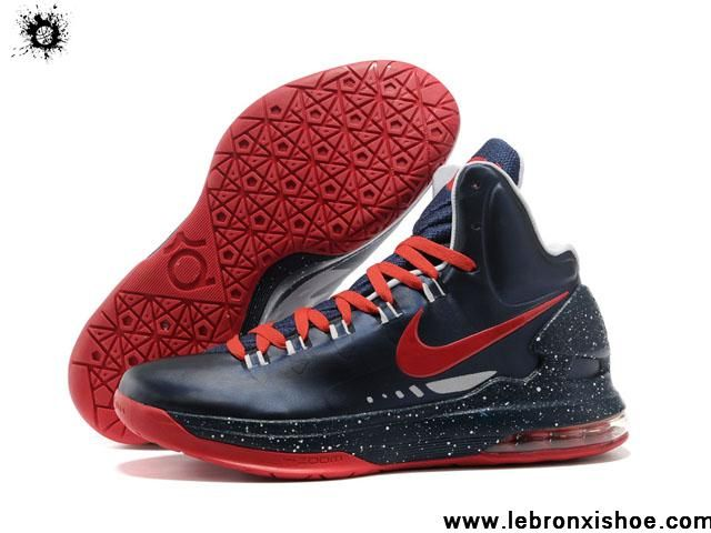 low priced 95217 f005a Wholesale Discount Nike Zoom KD 5 V Dark Blue Red Basketball Shoes Fashion  Shoes Shop