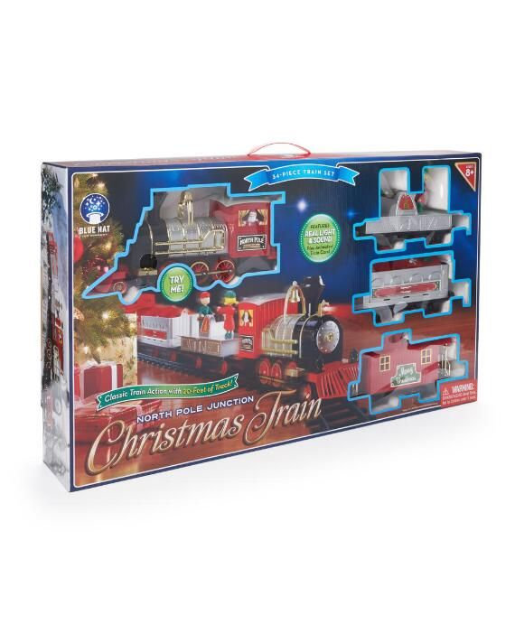 north pole junction christmas train set - North Pole Junction Christmas Train