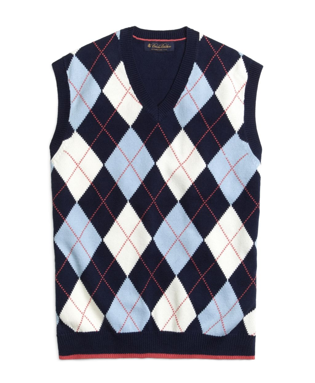 Brooks brothers Argyle Vest in Blue for Men | Lyst | Cardigans For ...