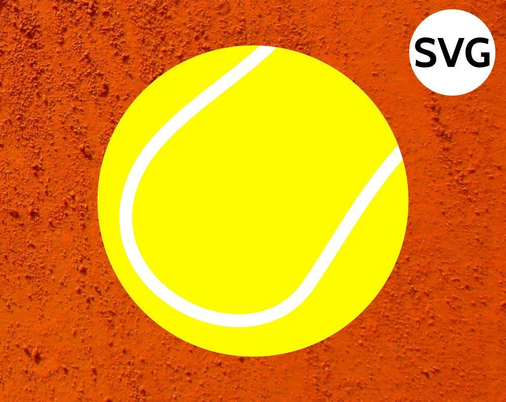 Tennis Ball Svg File Sports Svg Svg Tennis Ball