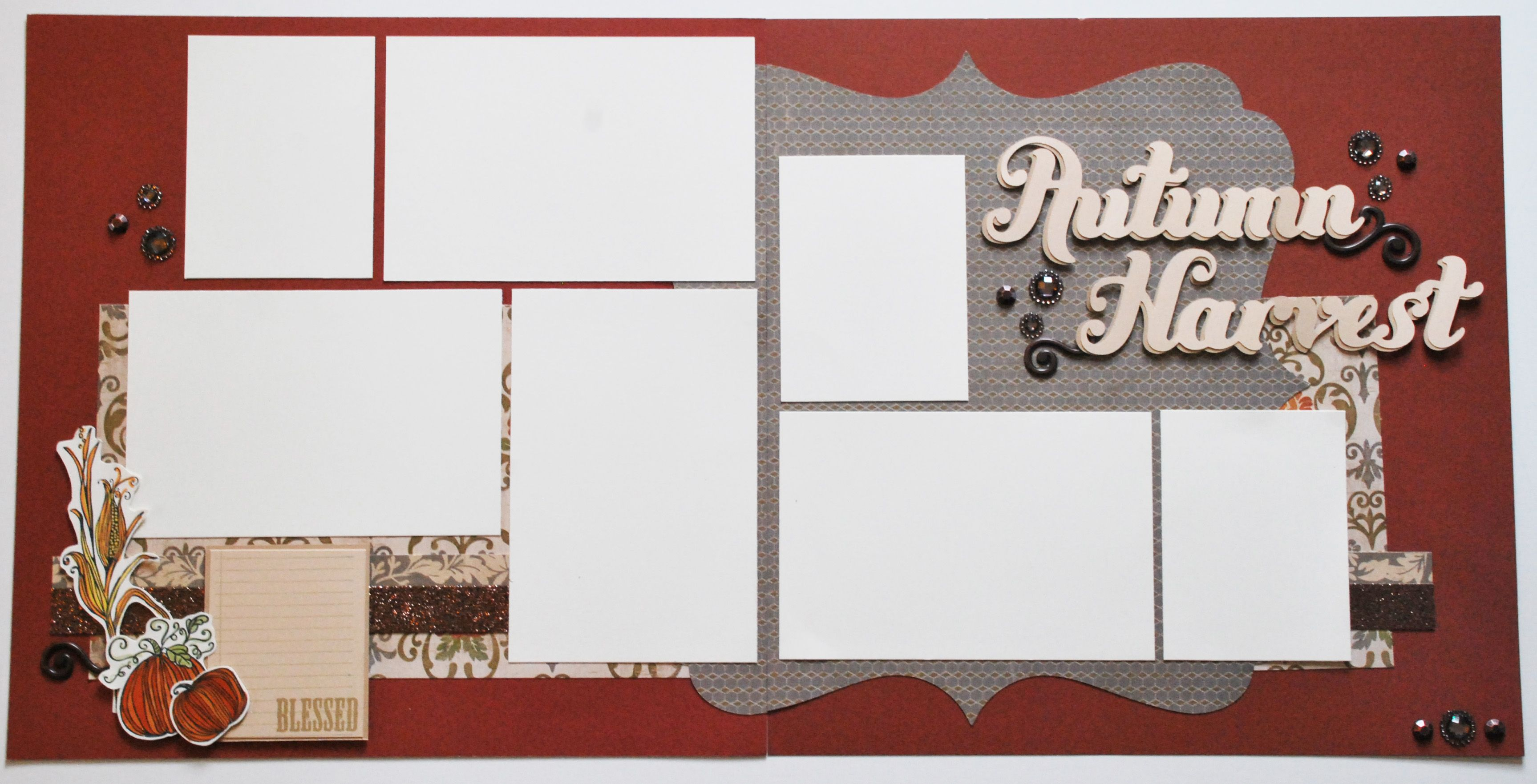 scrapbook 2 page layouts | Fall Inspired Two Page Scrapbook Layout www.fancymelissa.com #ctmh # ...