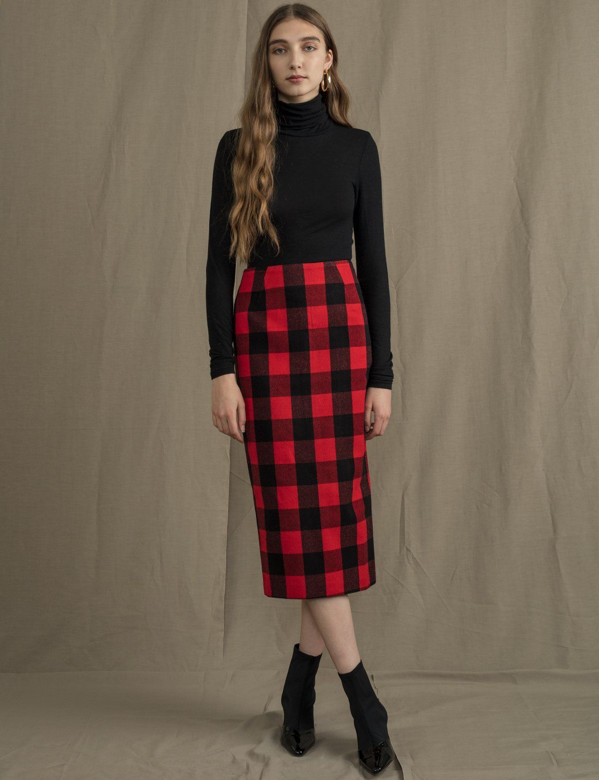 7c9b4bb9a7 Red Plaid Pencil Skirt in 2019 | Perfect Holiday Pieces | Plaid ...