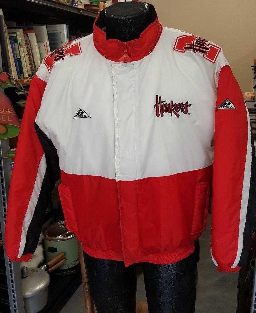 Xl Sports Apex >> Huskers Apex One Jacket Mens Xl Vtg 90s University Of