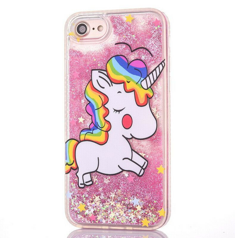 cheap for discount 57e7d 34e3e Glitter Rainbow Unicorn Soft TPU Phone Case For iPhone 6S/7/7PLUS ...