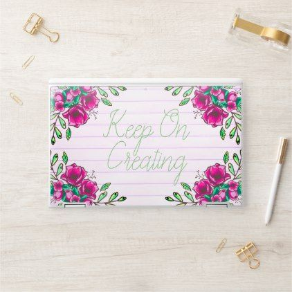 Photo of Spring Pink Flower Wreath Doodles Keep On Creating HP Laptop Skin | Zazzle.com