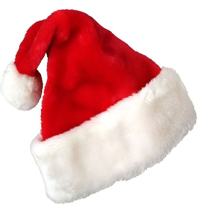 2015 Christmas Party Santa Hat Velvet Red And White Cap for Santa Claus Costume #UnbrandedGenenic #SantaHat