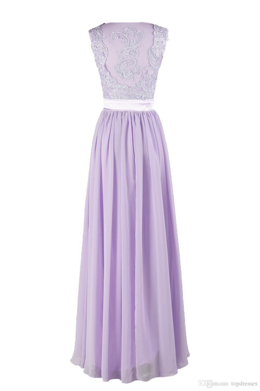 Cheap hot selling purple lilac lavender bridesmaid dresses lace