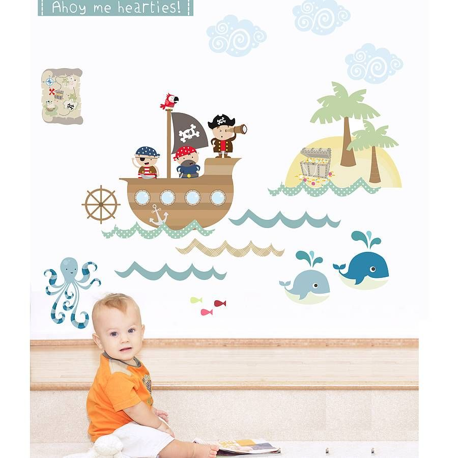 Pirates fabric wall stickers wall sticker fabrics and walls a fun collection of pirate wall stickers by littleprintsing childrens imaginations to life with amipublicfo Gallery