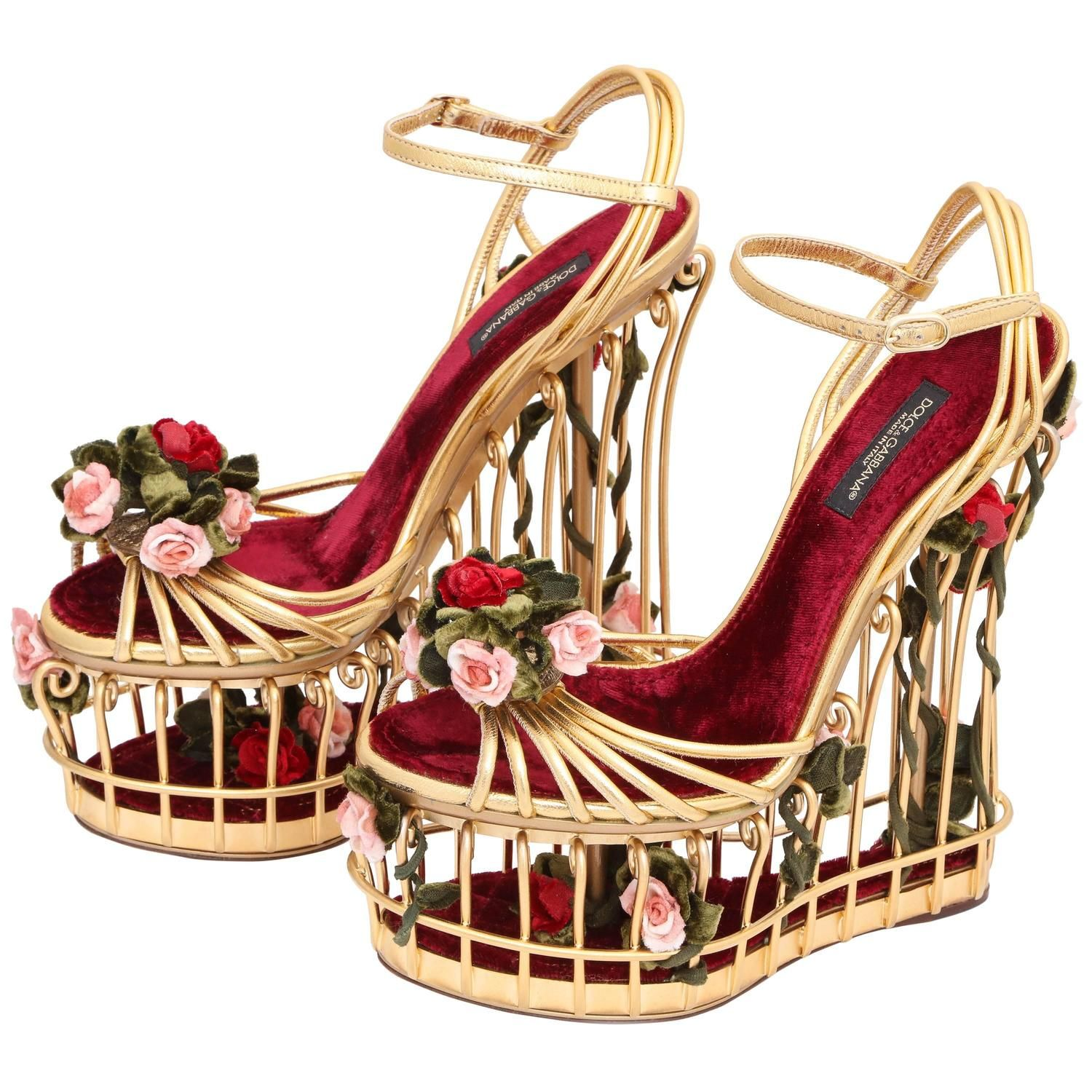 9844dd0597c7 Very rare Dolce and Gabbana Runway Cage Heel Shoes Piece of Art ...