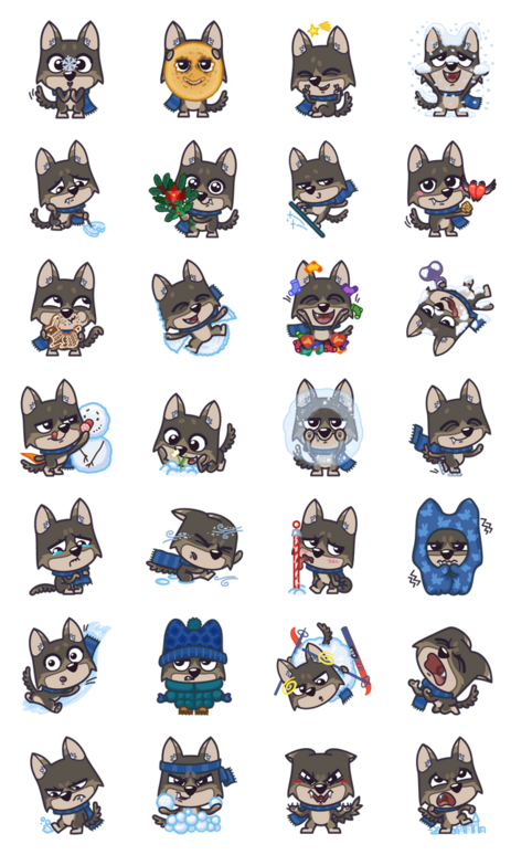 Do you love Christmas? And Cubs?Yes? Then this set of Christmas stickers created for you! The sign is Mukhtar Winter is the favorite season of teen wolf. He just can't sit still with the desire to share their experiences.