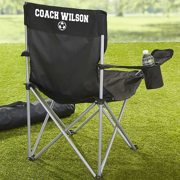 Sports Fan Personalized Black Camping Chair Camping Chairs Camping Lights Chair