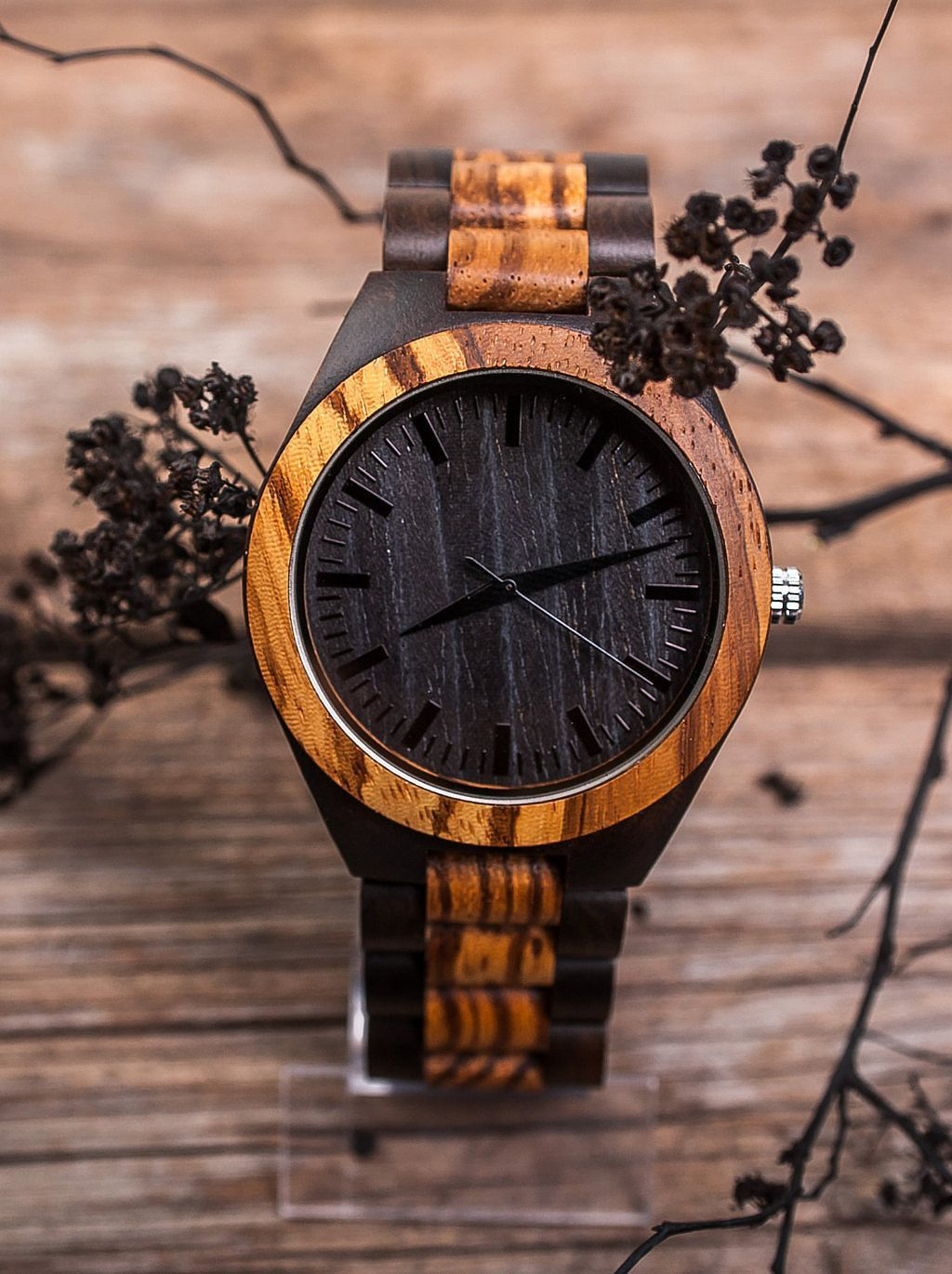 Mens Watch Wood Band Watch Bamboo Black Watch Engraved Men Watch Personalize Watch Wooden Watc Wooden Watches For Men Stylish Watches Men Mens Watches Wood