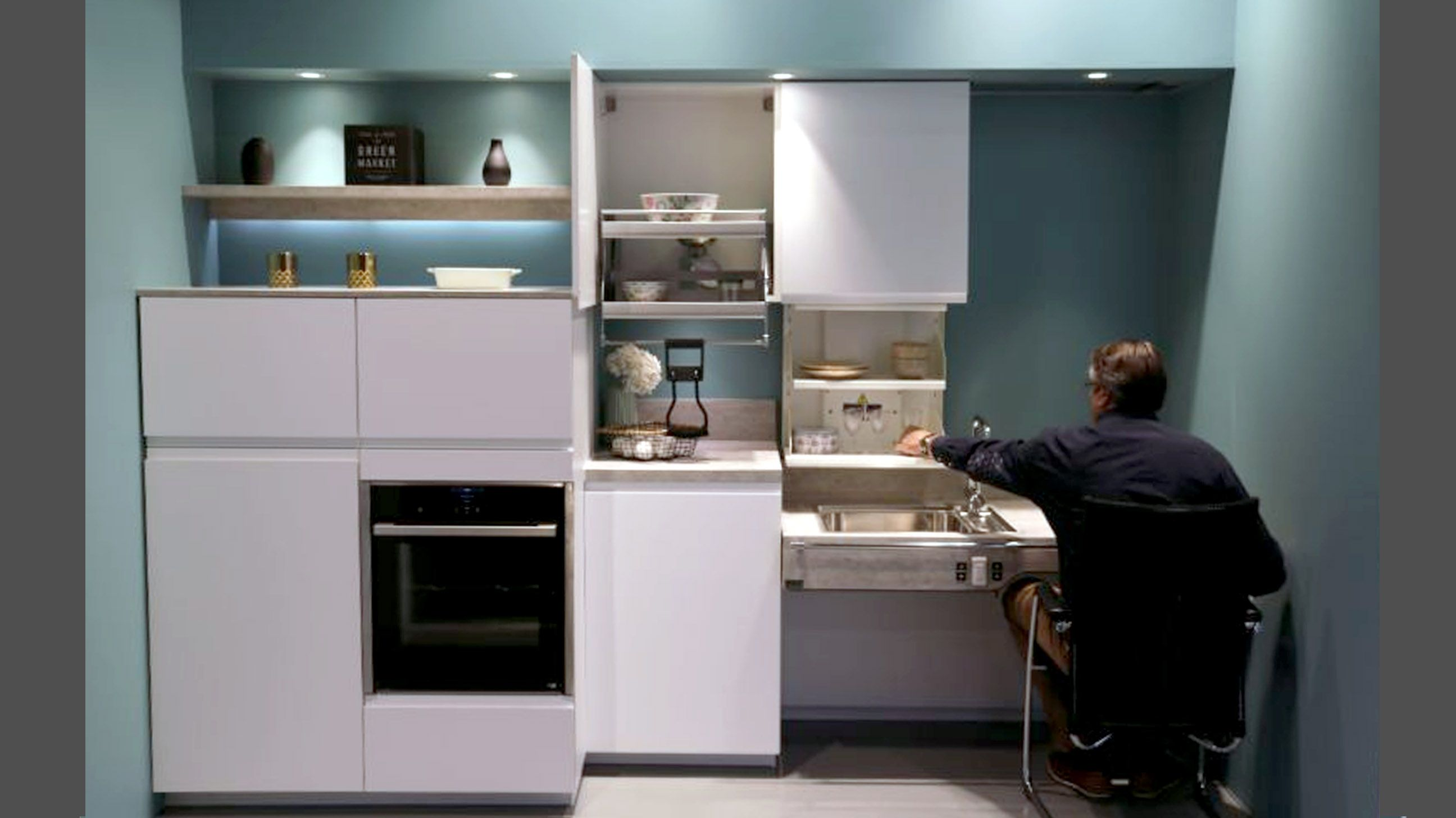Cuisine Adaptee Pour Fauteuil Roulant Amenagement Cuisine Pour