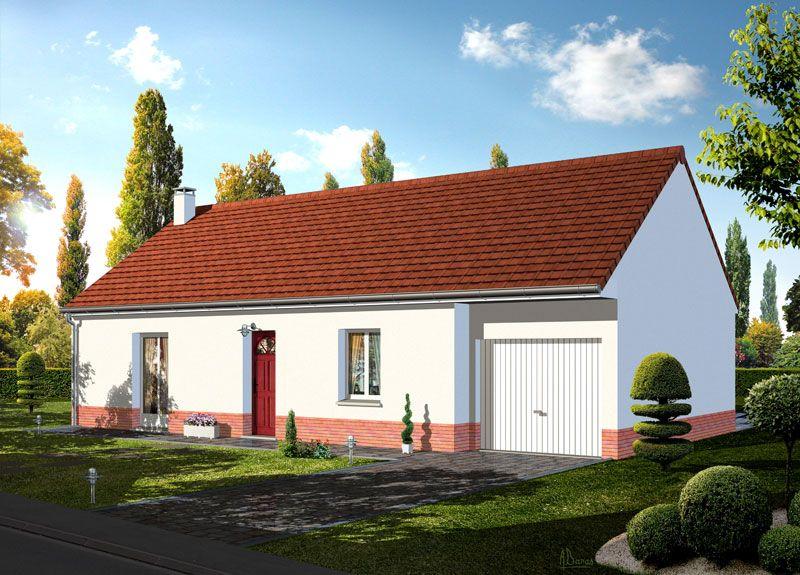 Mod le gregale pavillon plain pied avec garage comprenant - Plan de maison avec cuisine ouverte ...