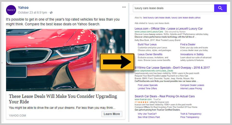 Yahoo Tricks Facebook Users With Clickbait Car Lease Deals Carscoops