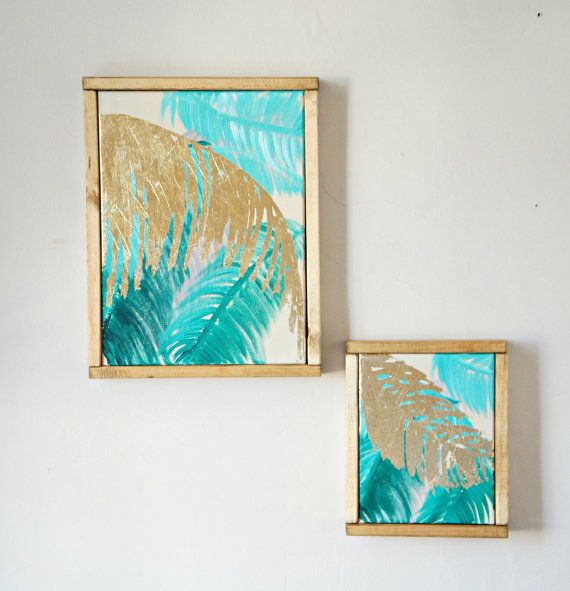 framed canvas art tropical palm trees painting by goldcoastcanvas - Wood Frames For Canvas Paintings