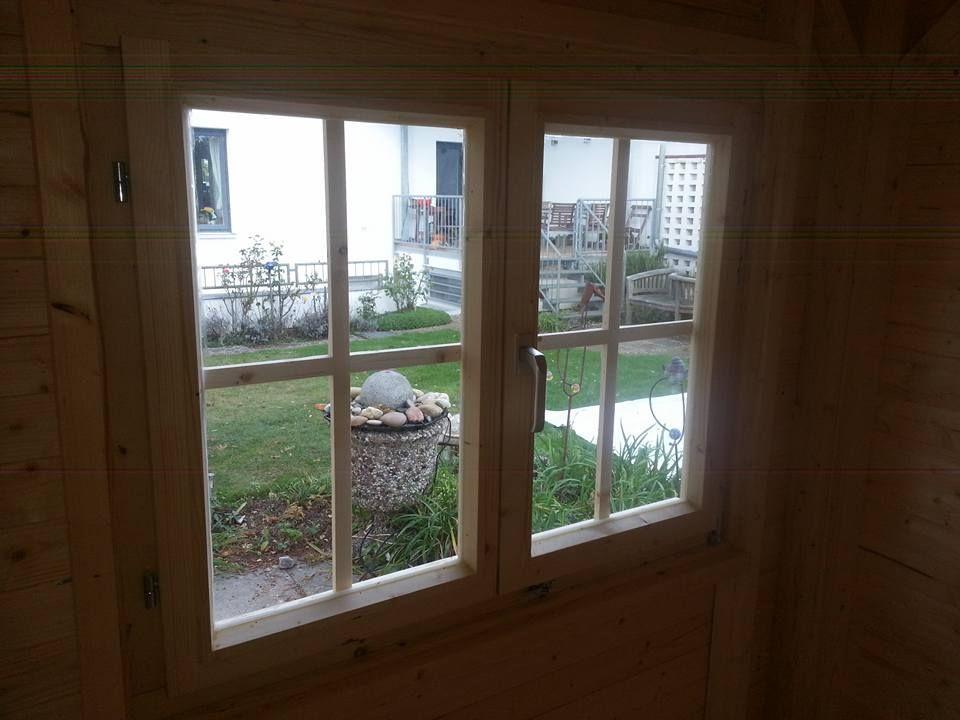 Doppelfenster bei GartenhausnachMass. Toller Dreh/Dreh