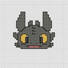 How To Train Your Dragon Toothless cross stitch
