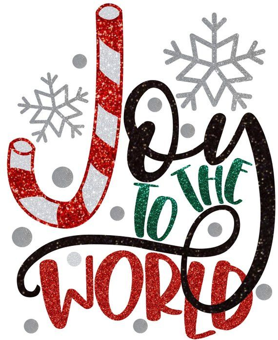 Christmas Joy To The World On Black T Shirt Contact Me