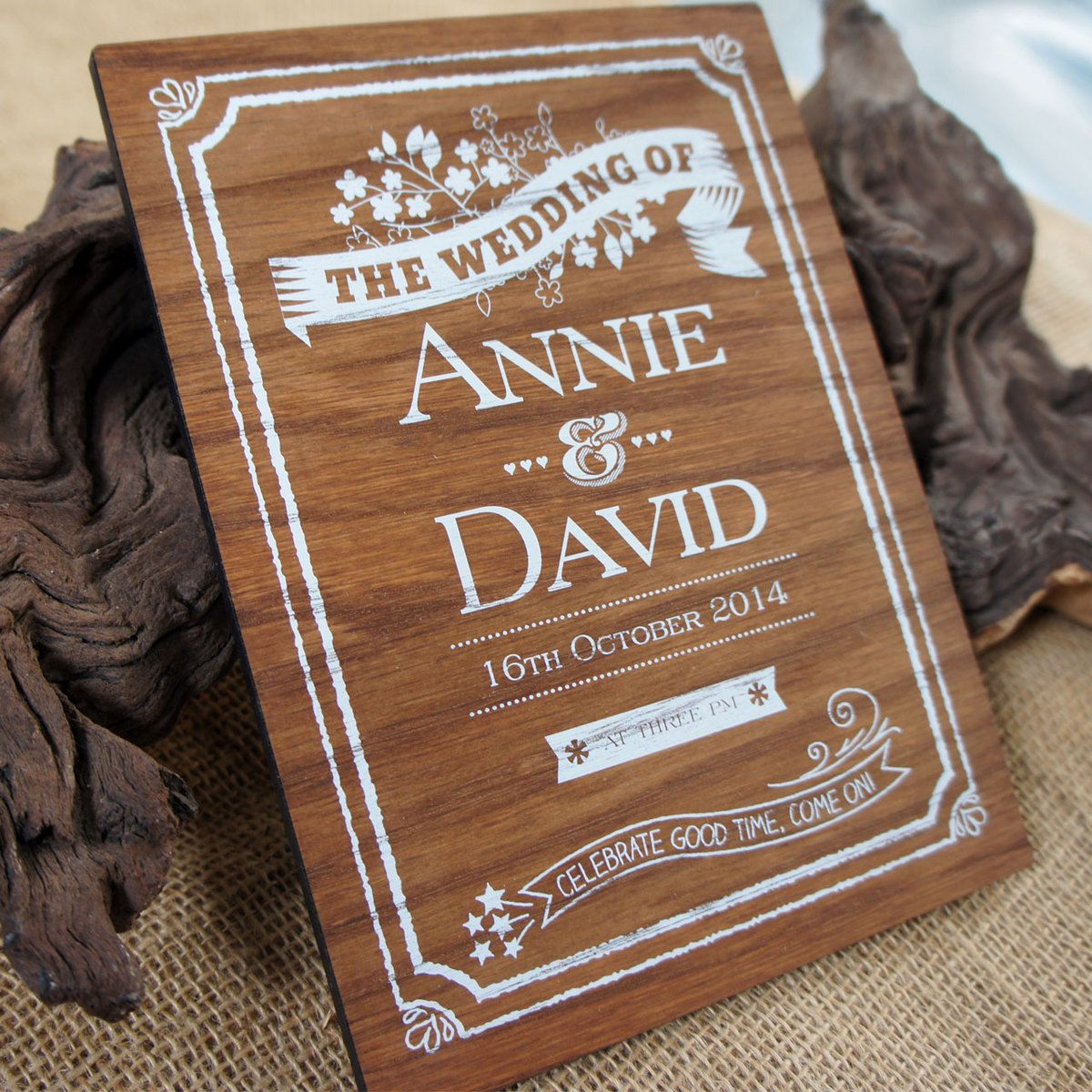 Camdeco Wooden Wedding Signs White Printed 18 00 Http