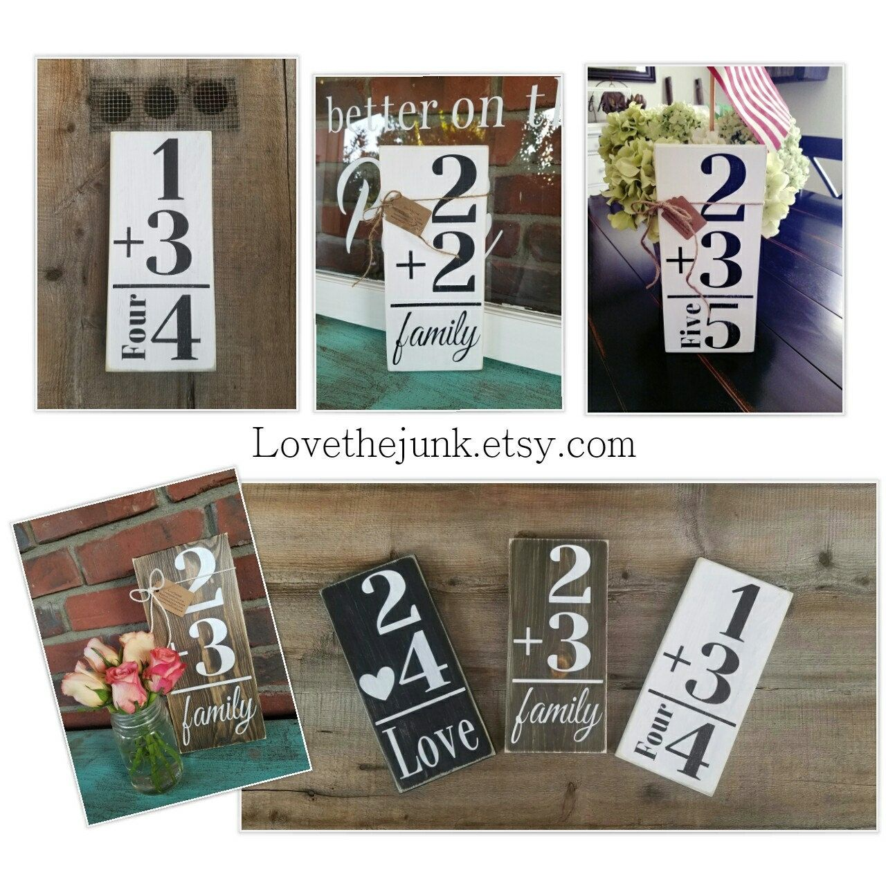 Family flash card sign flashcard wood sign number signs