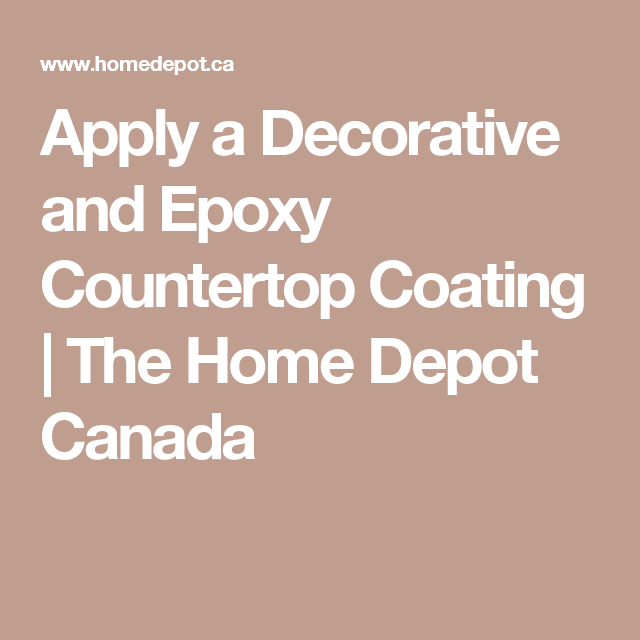Apply a Decorative and Epoxy Countertop Coating | The Home Depot ...