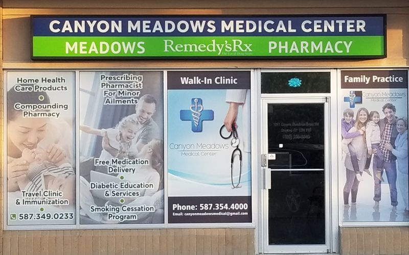 Walkin Clinic Pharmacy on Site 1041 Canyon Meadows Drive