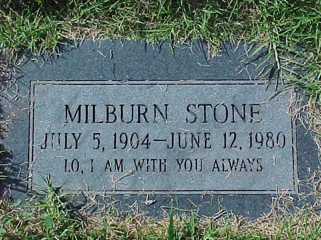 Milburn Stone 7 5 04 6 12 80 Burial El Camino Memorial Park San Diego San Diego County California Usa Pl Famous Graves Milburn Stone Famous Tombstones