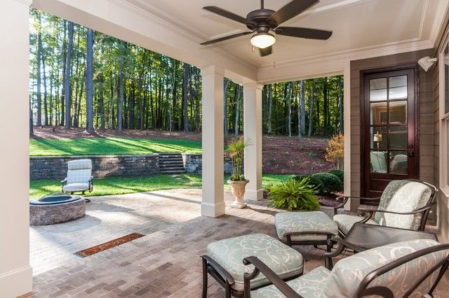 Particular Covered Back Porch Designs On Home Design || Traditional Porch