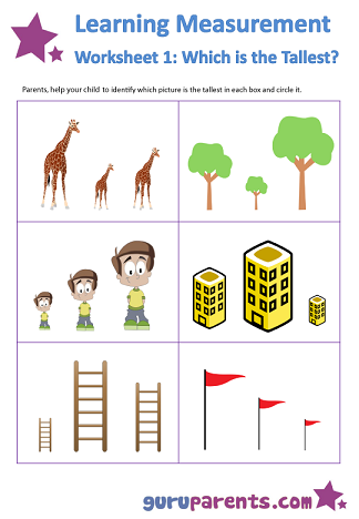 tall short worksheets kindergarten - Google Search | Kinder ...