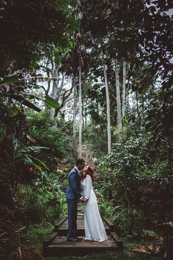 Newlyweds In Coastal Forest   Milton Gan Photography on @polkadotbride via @aislesociety