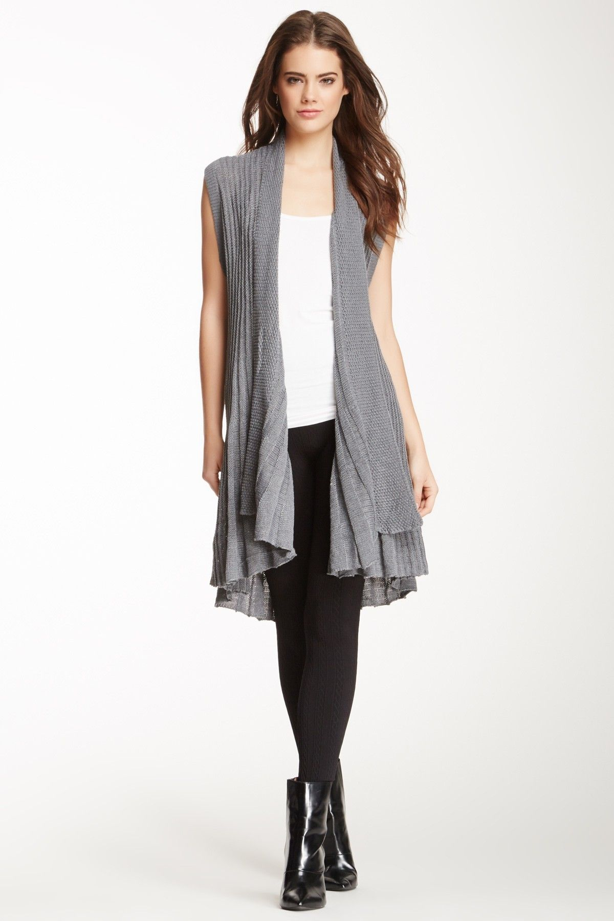 Papillon Draped Knit Sleeveless Cardigan @Pascale Lemay De Groof ...