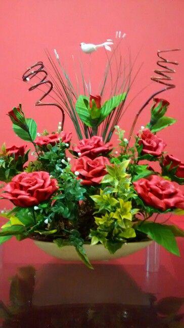 Centro De Mesa Arranjos De Flores Flores Artesanato Decoracao