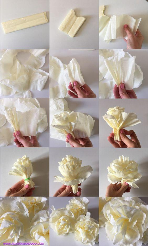 Півонії з гофрованого паперу: ідеї та майстеркласи з виготовлення | Ідеї декору #fleursentissu
