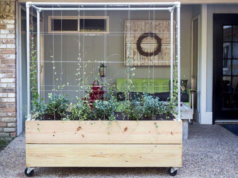 Jardinière avec treillis extérieure à réaliser soi-même ...