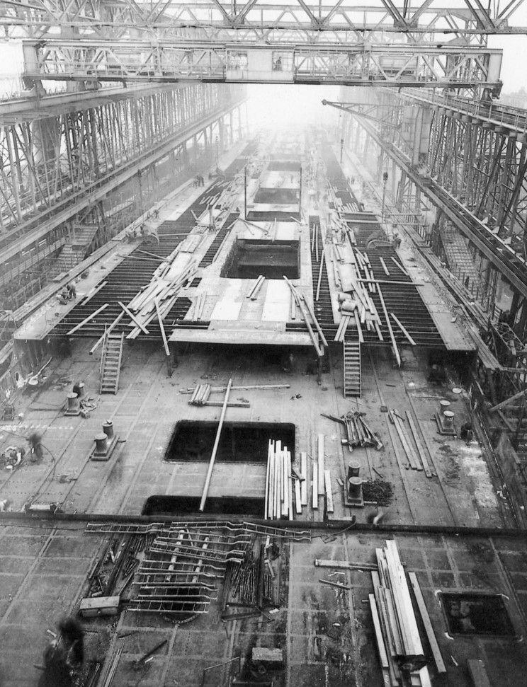 Inside A Cruise Ship Engine Room: HMHS Britannic (1914) Britannic Under Construction