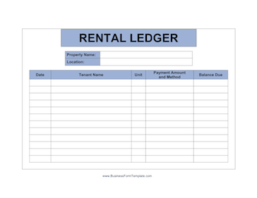 Ledger To Record The Payments And Balances Owed For More Up To Twelve Tenants Free To Downloa Being A Landlord Rental Property Management Apartment Management