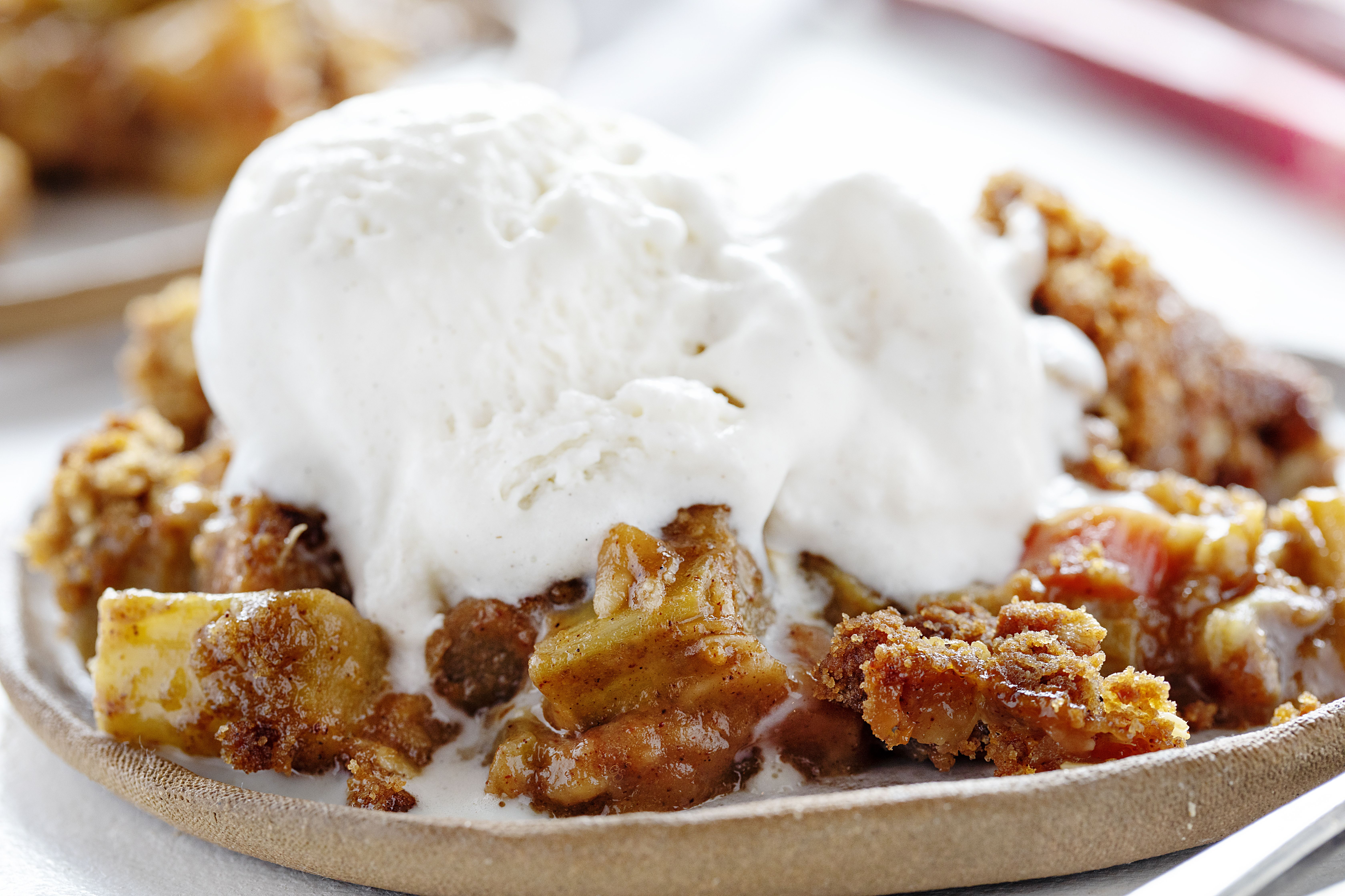 Seriously amazing rhubarb crisp is the perfect summer dessert! My secret crisp is what makes it amazing!
