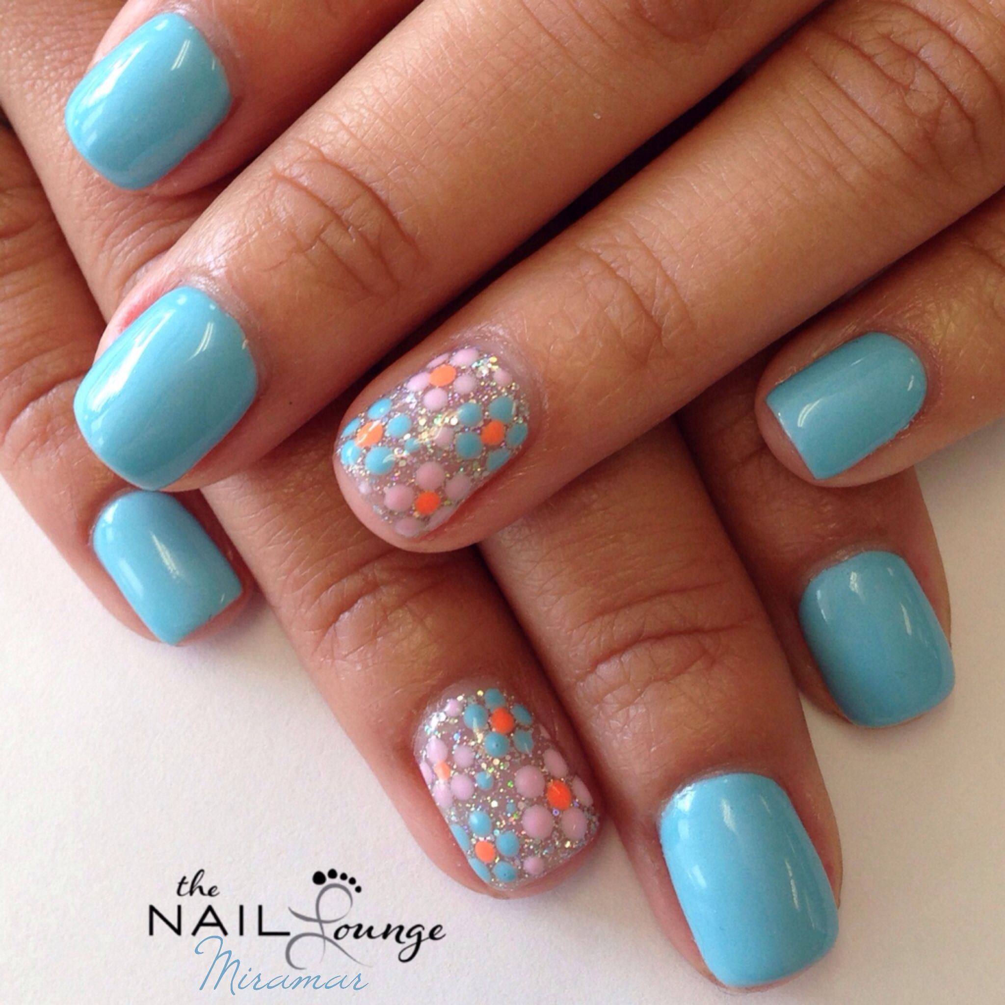 Gel Nail Designs: Spring Gel Nail Art Design