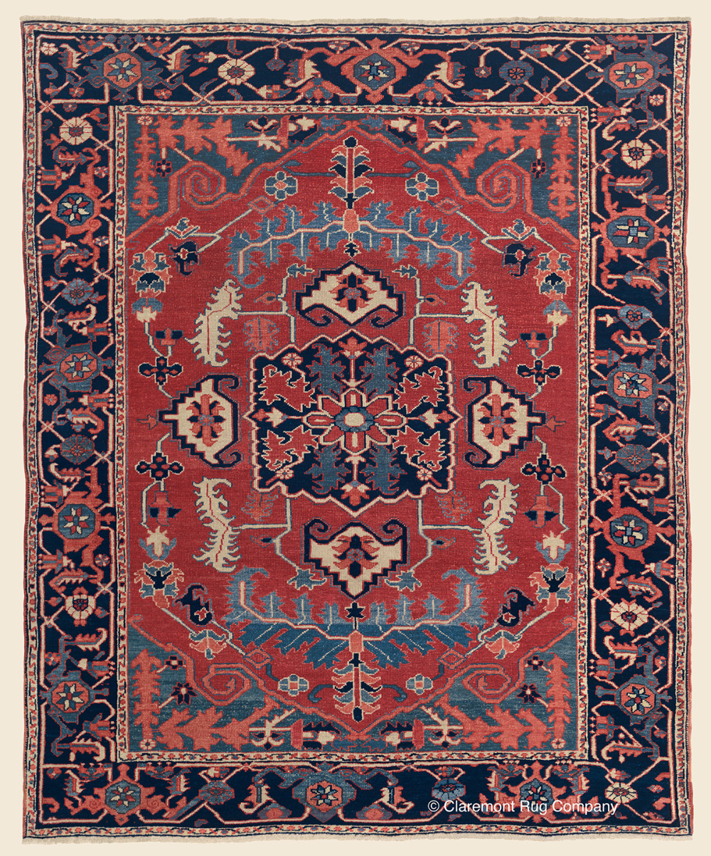 19th Century Floral Serapi Northwest Persian Area Oriental Rug 4 11 X 6 1 In 2020 Rugs Claremont Rug Company Persian Carpet
